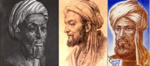 Tre mansporträtt, alla iförda turban