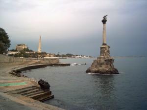 Monument i hamnbassäng