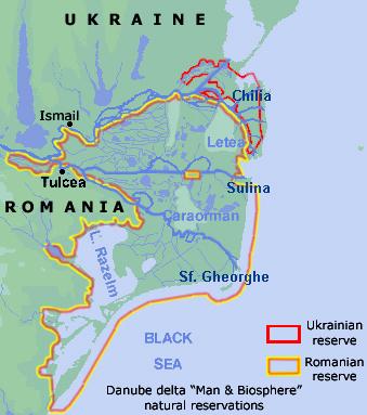 Karta över floddelta