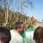 Båt vid vassrugg