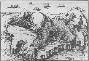 Teckning av liggande man i kostym