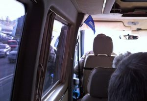 Interiör från minibuss