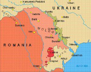 Karta över Moldova