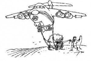 Teckning av flygplan