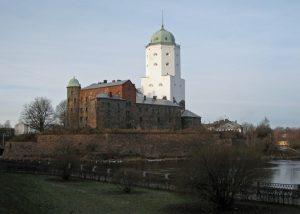 Slott med vitt torn